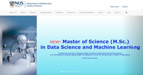 NUS数学系首页